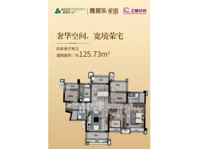 雅居樂星玥 平面圖4房2廳2衛